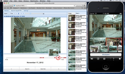 DComplex - IP Camera Recorder software for MAC OS